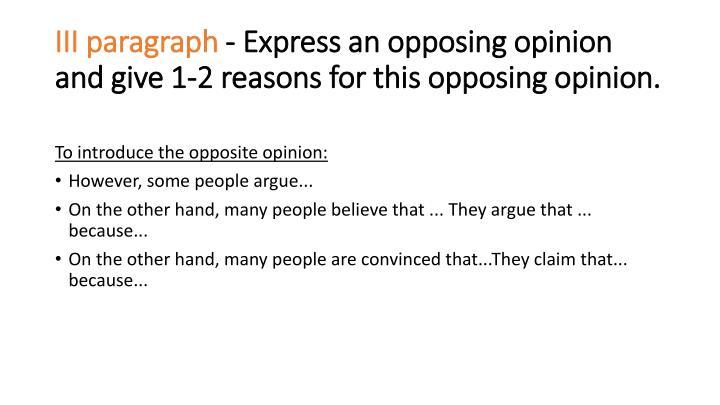 III paragraph