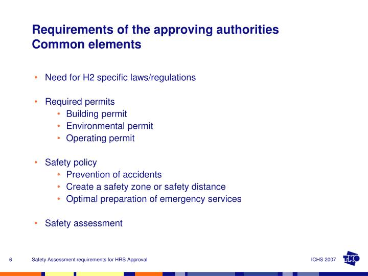 Need for H2 specific laws/regulations