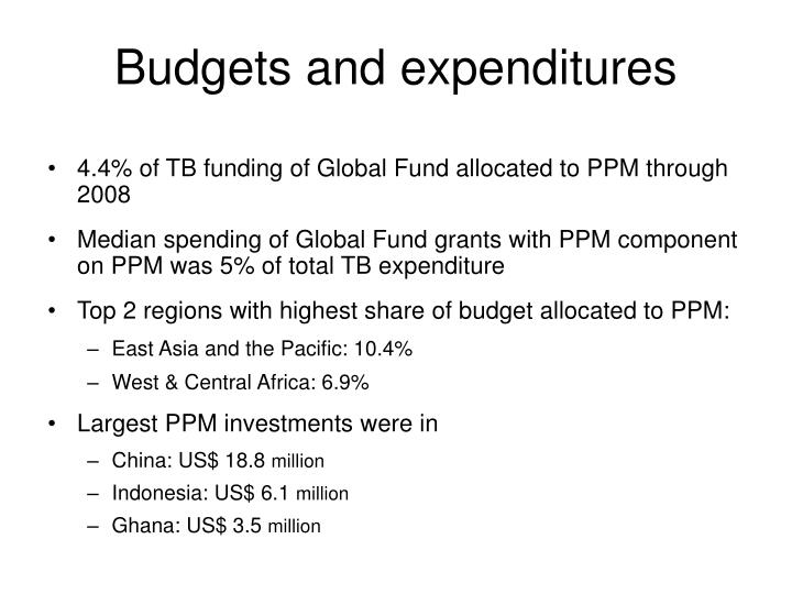 4.4% of TB funding of Global Fund allocated to PPM through