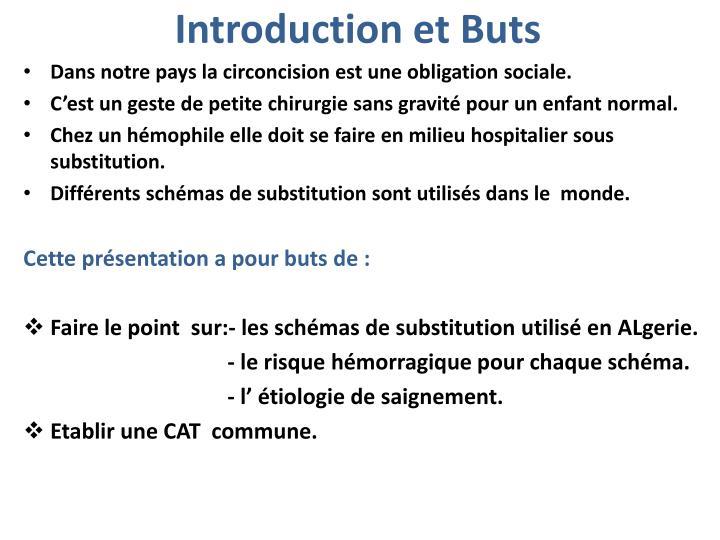 Introduction et buts