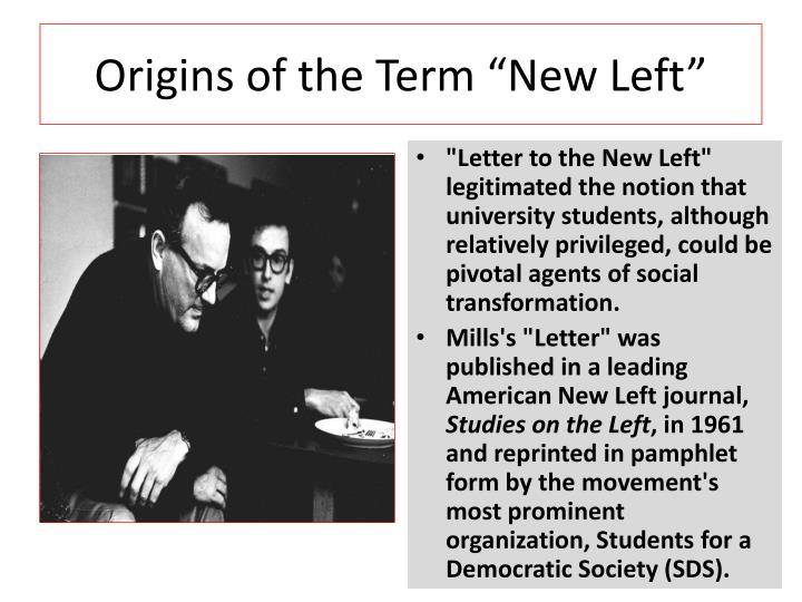 "Origins of the Term ""New Left"""