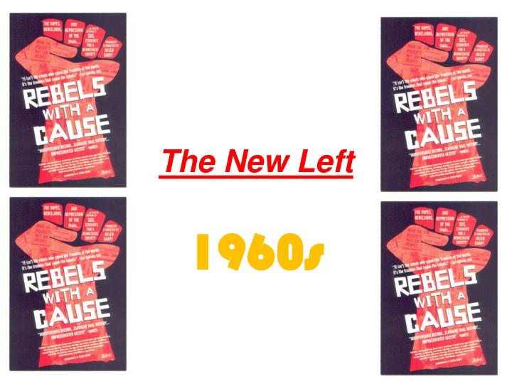 timeline of new left movements in 1960 This was the duration that the slate political party was running for at the university of california this was the umbrella and in effect the starting point of the counter-culture movement of the 1960's in america, many young americans flocked to this university to better explore this.