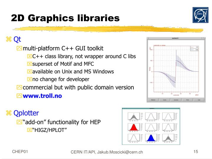 2D Graphics libraries