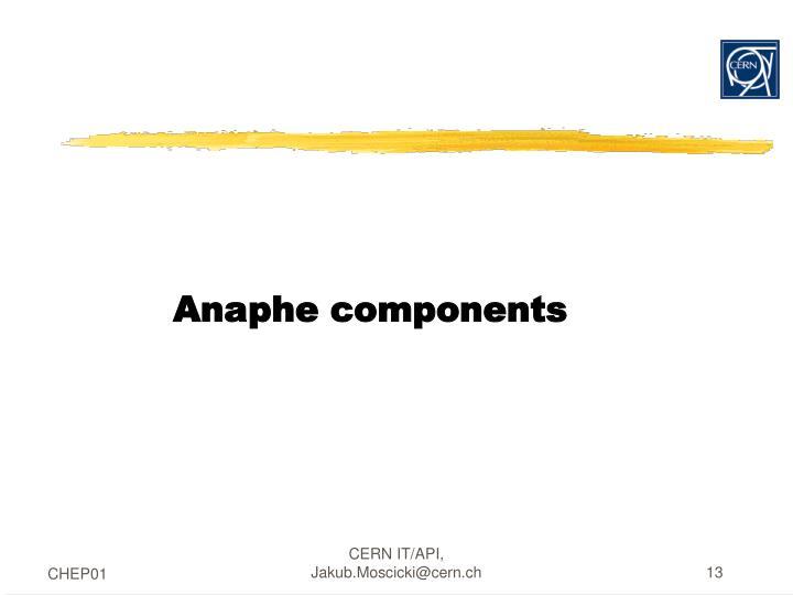 Anaphe components