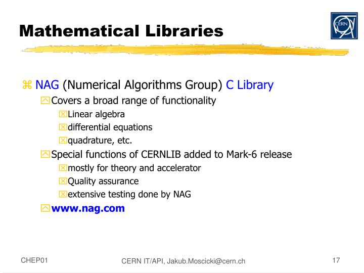 Mathematical Libraries