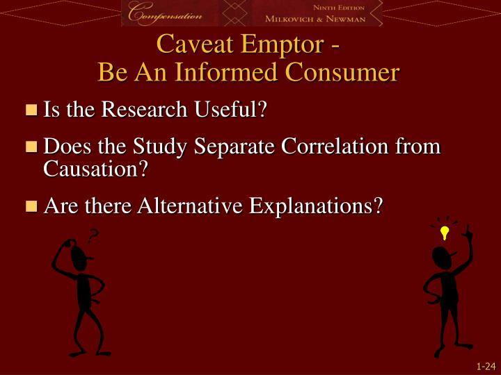Caveat Emptor -
