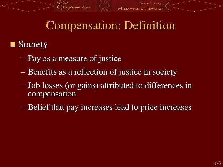 Compensation: Definition