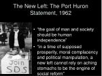 the new left the port huron statement 1962