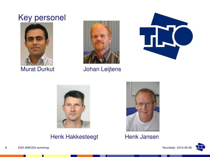 Key personel
