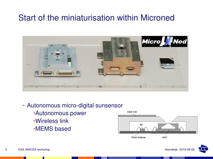 Start of the miniaturisation within Microned