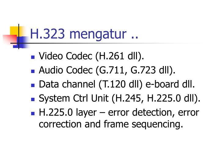 H.323 mengatur ..