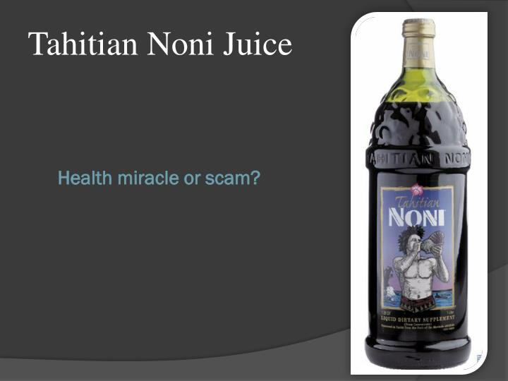 Health miracle or scam