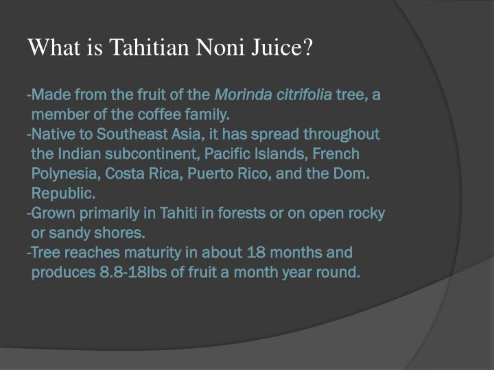 What is Tahitian