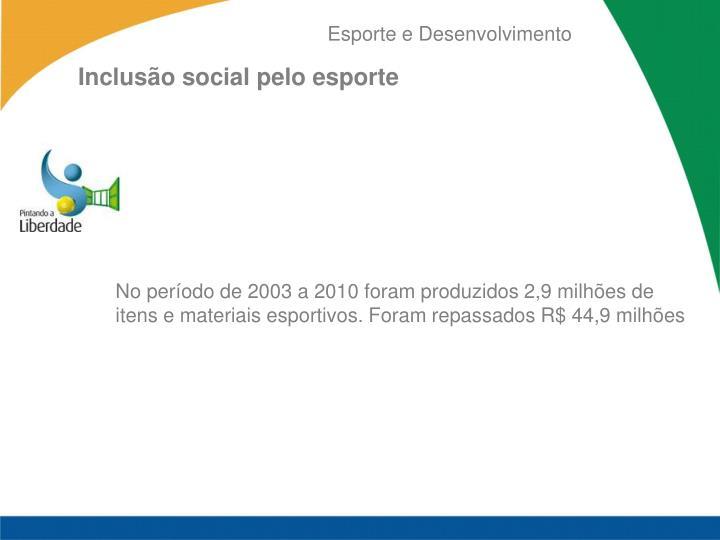 Inclusão social pelo esporte