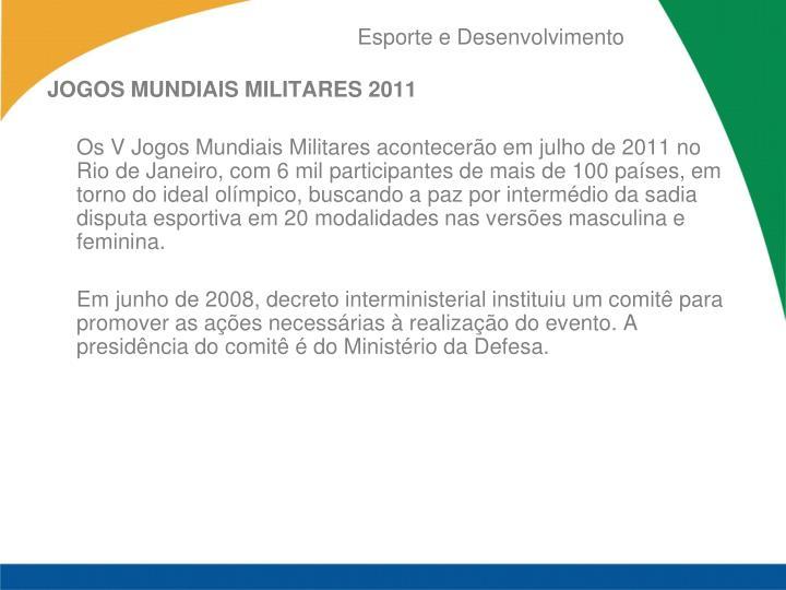 JOGOS MUNDIAIS MILITARES 2011