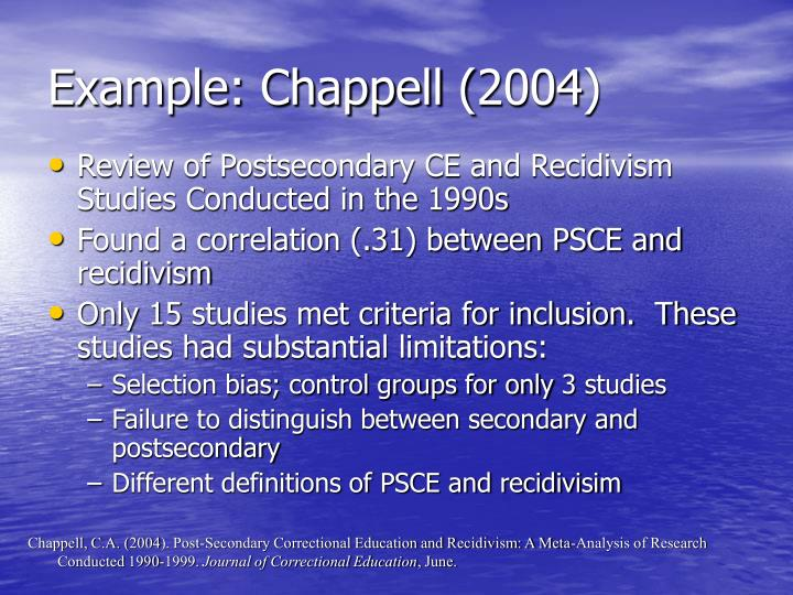 Example: Chappell (2004)