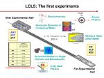 lcls the first experiments