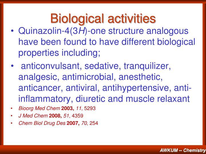 Biological activities