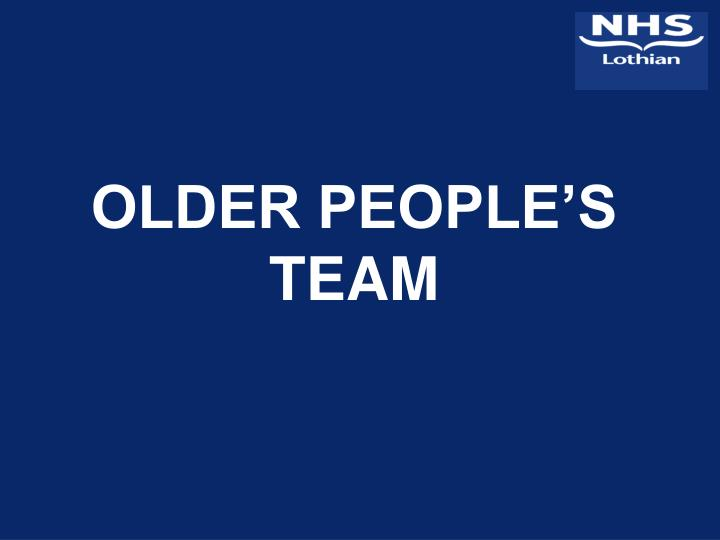 older people s team