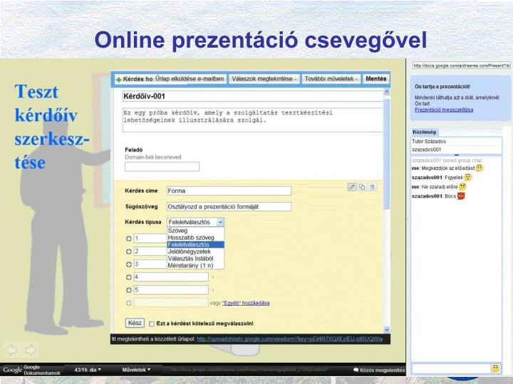 Online prezentáció csevegővel