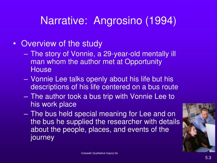 Narrative angrosino 1994