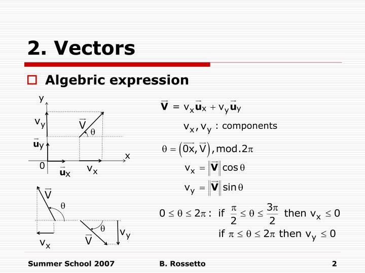 2 vectors1