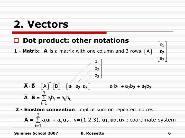 2. Vectors