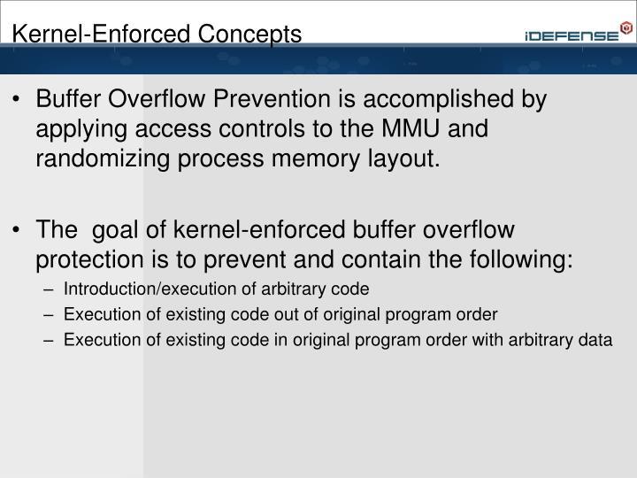 Kernel-Enforced Concepts