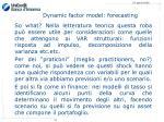 dynamic factor model forecasting