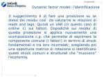 dynamic factor model l identificazione
