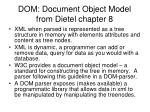 dom document object model from dietel chapter 8