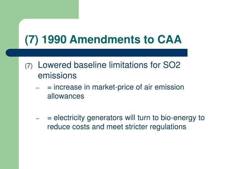 1990 Amendments to CAA