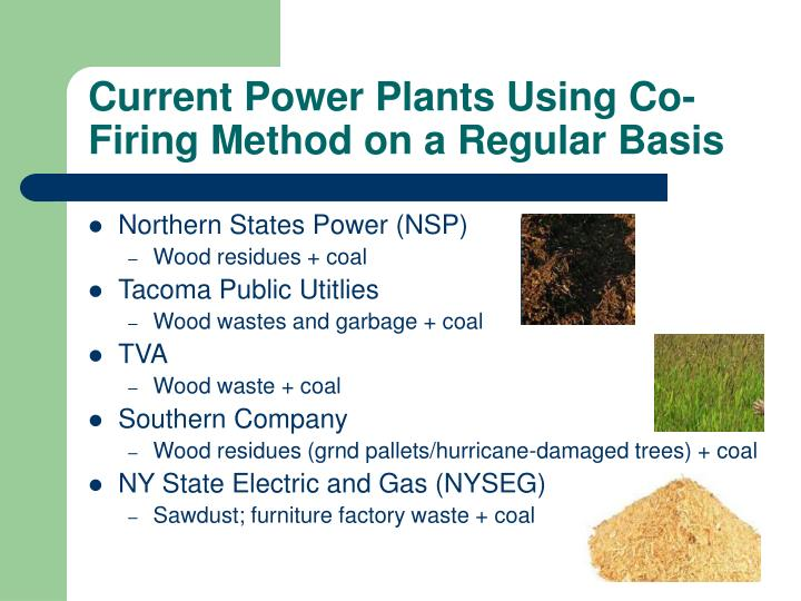 Current Power Plants Using Co-Firing Method on a Regular Basis
