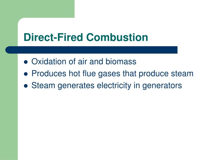 Direct-Fired Combustion