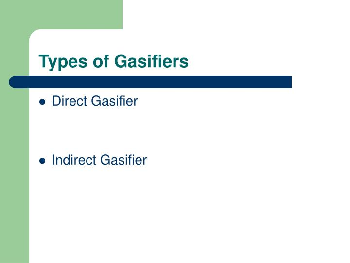 Types of Gasifiers