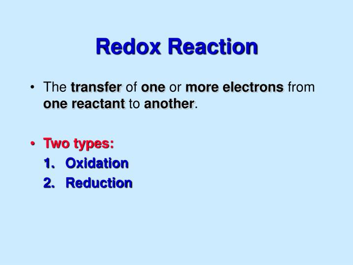 Redox Reaction