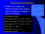 comparing two elevations
