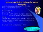 inverse prediction follow the same example