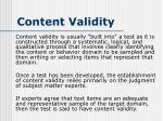 content validity1
