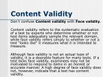 content validity3