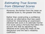 estimating true scores from obtained scores1