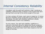 internal consistency reliability1