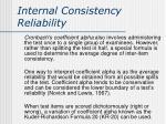 internal consistency reliability2