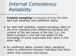 internal consistency reliability3
