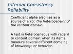 internal consistency reliability4