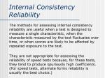 internal consistency reliability6
