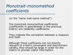 monotrait monomethod coefficients