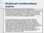multitrait multimethod matrix
