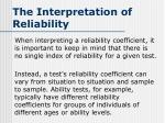 the interpretation of reliability1