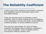 the reliability coefficient1
